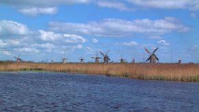 世界遺産 キンデルダイクの風車
