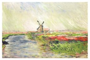 モネ 「オランダのチューリップ畑」