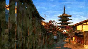 八坂の塔イラスト